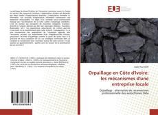 Orpaillage en Côte d'Ivoire: les mécanismes d'une entreprise locale kitap kapağı