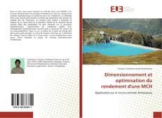 Dimensionnement et optimisation du rendement d'une MCH的封面