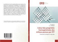 Capa do livro de Calcul des propriétés homogénéisées des milieux poreux par FFT
