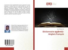 Bookcover of Dictionnaire ŋgə̂mbà-Anglais-Français
