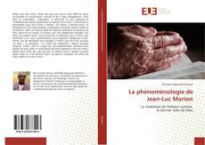 Portada del libro de La phénoménologie de Jean-Luc Marion