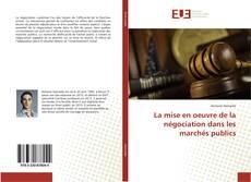 Buchcover von La mise en oeuvre de la négociation dans les marchés publics