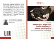Portada del libro de Technologies de gestion de fertilité des sols- impact agronomique