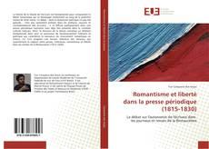 Copertina di Romantisme et liberté dans la presse périodique (1815-1830)