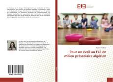 Capa do livro de Pour un éveil au FLE en milieu préscolaire algérien