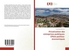 Couverture de Privatisation des entreprises publiques: Effets politico-économiques