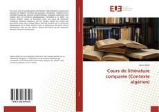 Обложка Cours de littérature comparée (Contexte algérien)
