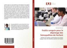 Copertina di Frottis sanguin pour le dépistage des hémopathies de l'enfant