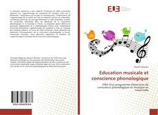 Capa do livro de Education musicale et conscience phonologique