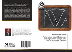 Bookcover of Perturbation-based Extremum Seeking Control Design for a Class of Nonlinear systems