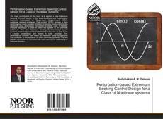 Copertina di Perturbation-based Extremum Seeking Control Design for a Class of Nonlinear systems