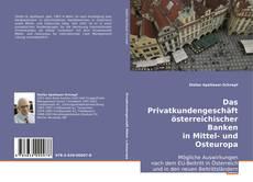 Portada del libro de Das Privatkundengeschäft österreichischer Banken in Mittel- und Osteuropa