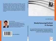 Borítókép a  Niederlassungsfreiheit in Europa - hoz