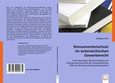 Bookcover of Konsumentenschutz im österreichischen Gewerberecht