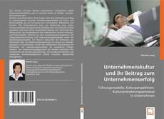 Borítókép a  Unternehmenskultur und ihr Beitrag zum Unternehmenserfolg - hoz
