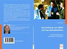 Portada del libro de Auswirkung von MbO auf das Betriebsklima