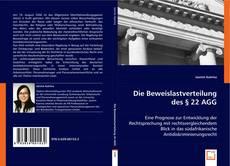 Capa do livro de Die Beweislastverteilung des § 22 AGG