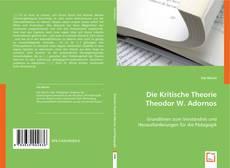 Buchcover von Die Kritische Theorie Theodor W. Adornos