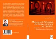 Capa do livro de Messung und Vorhersage des Antwortverhaltens von Neuronen