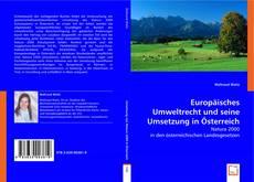 Portada del libro de Europäisches Umweltrecht und seine Umsetzung in Österreich