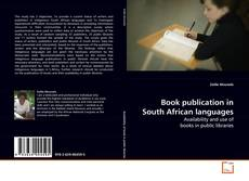 Book publication in South African languages kitap kapağı