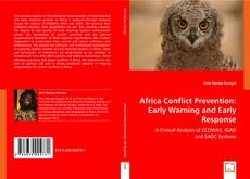 Portada del libro de Africa Conflict Prevention: Early Warning and Early Response