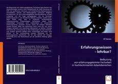 Erfahrungswissen - lehrbar? kitap kapağı