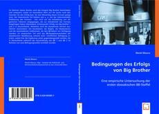 Bookcover of Bedingungen des Erfolgs von Big Brother