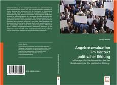 Обложка Angebotsevaluation im Kontext politischer Bildung