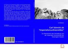 """Bookcover of Carl Schmitt als """"Imperialismustheoretiker"""""""