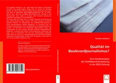 Bookcover of Qualität im Boulevardjournalismus?