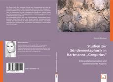 """Borítókép a  Studien zur Sündenmetaphorik in Hartmanns """"Gregorius"""" - hoz"""