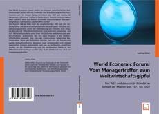 Buchcover von World Economic Forum: Vom Managertreffen zum Weltwirtschaftsgipfel