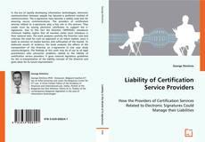 Buchcover von Liability of Certification Service Providers