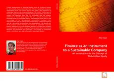 Bookcover of Finance as an Instrument to a Sustainable Company