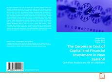 Capa do livro de The Corporate Cost of Capital and Financial Investment in New Zealand