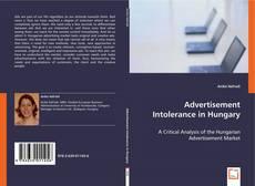 Обложка Advertisement Intolerance in Hungary
