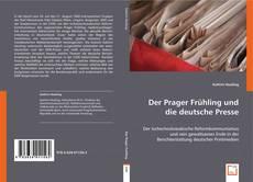 Borítókép a  Der Prager Frühling und die deutsche Presse - hoz