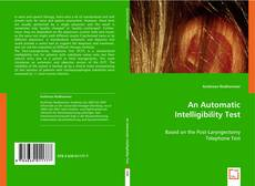 Capa do livro de An Automatic Intelligibility Test