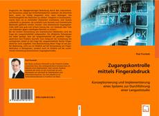 Capa do livro de Zugangskontrolle mittels Fingerabdruck