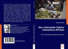 Bookcover of Der informelle Sektor Subsahara-Afrikas