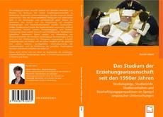 Обложка Das Studium der Erziehungswissenschaft seit den 1990er Jahren