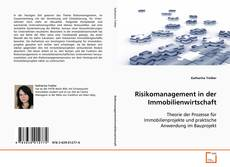 Обложка Risikomanagement in der Immobilienwirtschaft