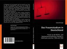Обложка Das Frauenstudium in Deutschland