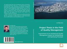 Bookcover of Project Thesis in the Field of Quality Management