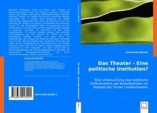 Buchcover von Das Theater - Eine politische Institution?