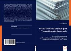 Buchcover von Rechtsformentscheidung im Transaktionskostenansatz