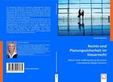 Portada del libro de Rechts-und Planungssicherheit im Steuerrecht
