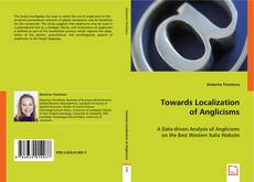 Couverture de Towards Localization of Anglicisms