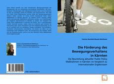 Обложка Die Förderung des Bewegungsverhaltens in Kärnten